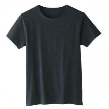 4.6オンスファインフィットTシャツ420.メランジネイビー