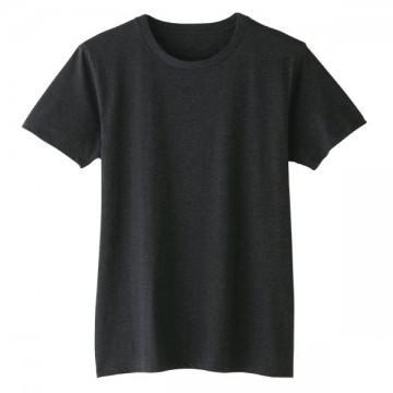 4.6オンスファインフィットTシャツ490.メランジブラック