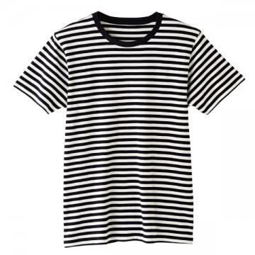 4.6オンスファインフィットTシャツBD705.ホワイト×ブラック