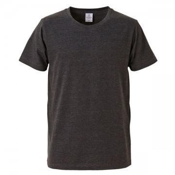4.7オンスファインジャージーTシャツ725.ヘザーブラック