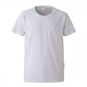 4.7オンスファインジャージーTシャツ(ポケット付)001.ホワイト
