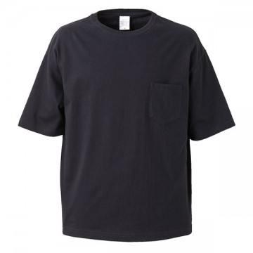 5.6オンスビッグシルエットTシャツ002.ブラック