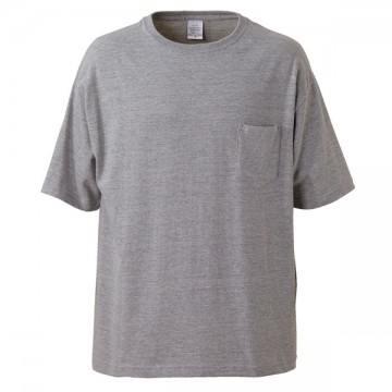 5.6オンスビッグシルエットTシャツ006.ミックスグレー