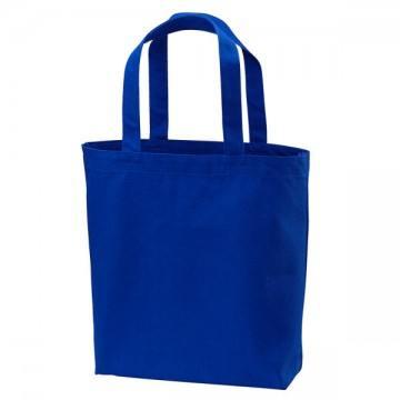 ヘヴィーキャンバストートバッグ(中)ポケット付084.コバルトブルー