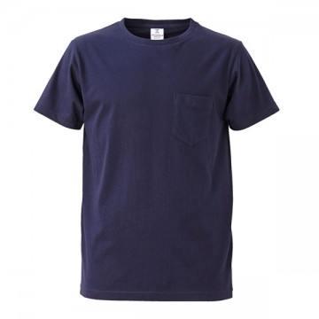 4.7オンスファインジャージーTシャツ(ポケット付)086.ネイビー