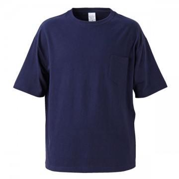 5.6オンスビッグシルエットTシャツ086.ネイビー