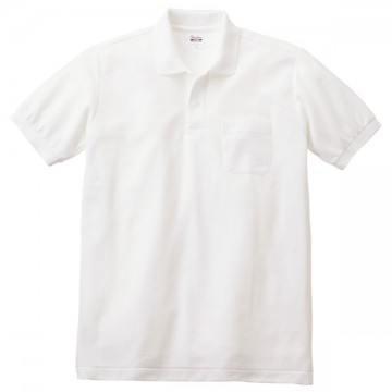 T/Cポロシャツ(ポケット有り)001.ホワイト