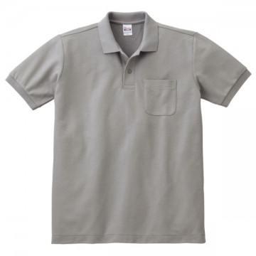 T/Cポロシャツ(ポケット有り)002.グレー