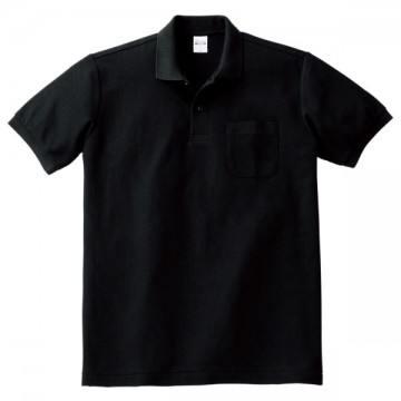 T/Cポロシャツ(ポケット有り)005.ブラック