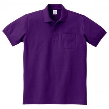 T/Cポロシャツ(ポケット有り)014.パープル