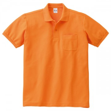 T/Cポロシャツ(ポケット有り)015.オレンジ