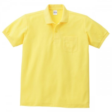T/Cポロシャツ(ポケット有り)020.イエロー