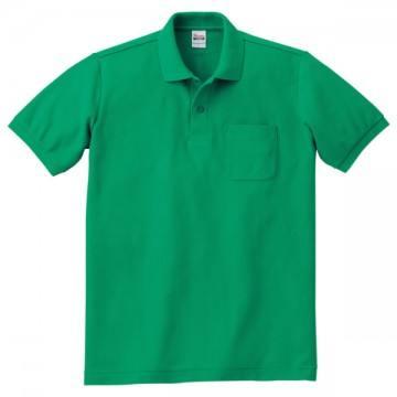 T/Cポロシャツ(ポケット有り)025.グリーン