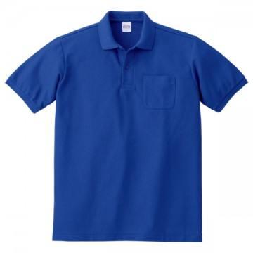 T/Cポロシャツ(ポケット有り)032.ロイヤルブルー