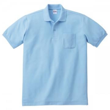 T/Cポロシャツ(ポケット有り)033.サックス
