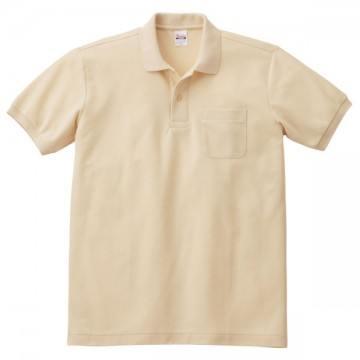 T/Cポロシャツ(ポケット有り)106.ナチュラル