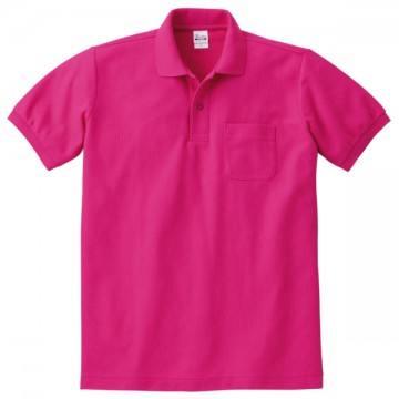 T/Cポロシャツ(ポケット有り)146.ホットピンク
