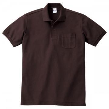 T/Cポロシャツ(ポケット有り)168.チョコレート