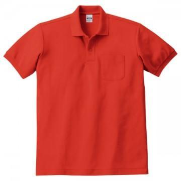 T/Cポロシャツ(ポケット有り)172.ブライトレッド