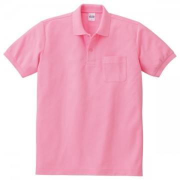 T/Cポロシャツ(ポケット有り)181.コーラルピンク