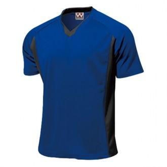 ベーシックサッカーシャツp-1910ロイヤルブルー