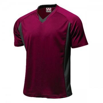 ベーシックサッカーシャツ14.バーガンディ