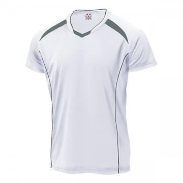 バレーボールシャツ60.ホワイト×ダークグレー