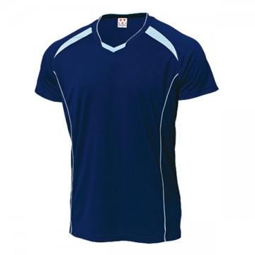 バレーボールシャツ81.ネイビー×サックス