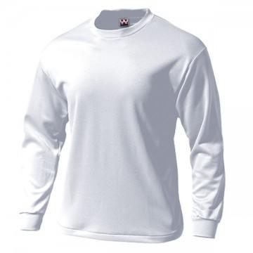 タフドライ長袖Tシャツ00.ホワイト