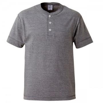 5.6オンスヘンリーネックTシャツ006.ミックスグレー