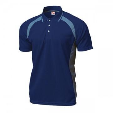 ベーシックテニスシャツ01.ネイビー