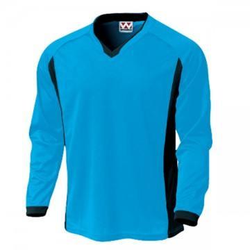 ベーシックロングスリーブサッカーTシャツ02.ターコイズ