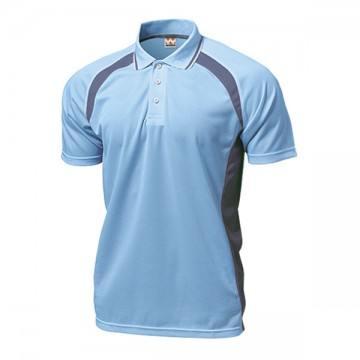 ベーシックテニスシャツ04.サックス