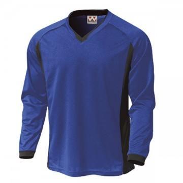 ベーシックロングスリーブサッカーTシャツ05.ロイヤルブルー