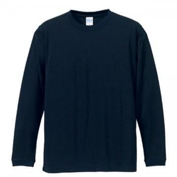 ドライシルキータッチロングスリーブTシャツ086.ネイビー