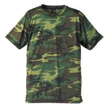 ドライクールナイスカモフラージュTシャツ104.ウッドランド