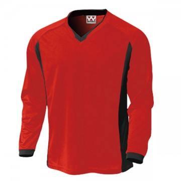 ベーシックロングスリーブサッカーTシャツ11.レッド