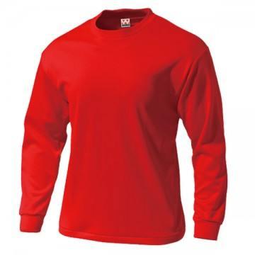 タフドライ長袖Tシャツ11.レッド