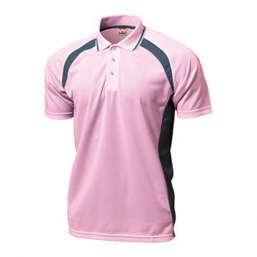 ベーシックテニスシャツ13.ライトピンク