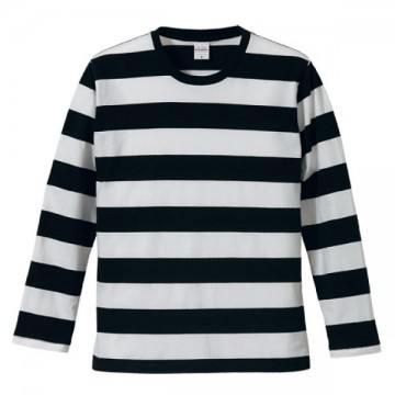 ボールドボーダーロングスリーブTシャツ2001.ブラック×ホワイト