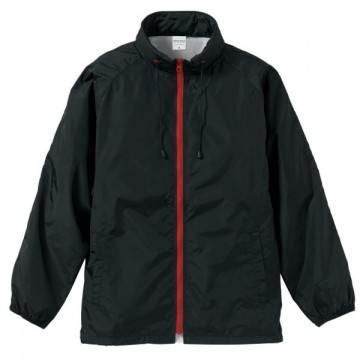 フードインナイロンスタンドジャケット2050.ブラック×レッド