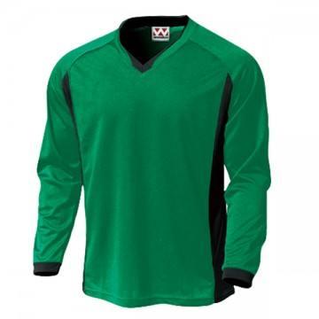 ベーシックロングスリーブサッカーTシャツ26.グリーン