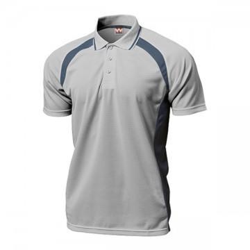 ベーシックテニスシャツ31.ライトグレー