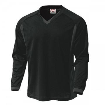 ベーシックロングスリーブサッカーTシャツ34.ブラック