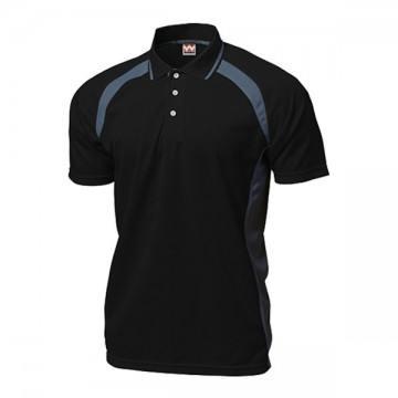 ベーシックテニスシャツ34.ブラック