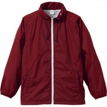 フードインナイロンスタンドジャケット5801.バーガンディ×ホワイト
