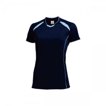 ウィメンズバレーボールシャツ81.ネイビー×サックス
