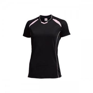 ウィメンズバレーボールシャツ89.ブラック×ライトピンク