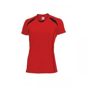 ウィメンズバレーボールシャツ92.レッド×ブラック