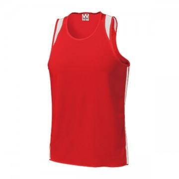 ランニングシャツ95.レッド×ホワイト